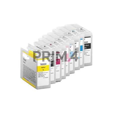 T8506LM 80ml Light-Magenta Pigment Cartuccia Plotter Compatibile Epson SC-P800DES,P800SE,P800SP