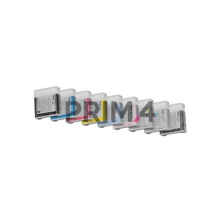 T6035LC C13T603500 220ml Ciano Chiaro Cartuccia a pigmenti Compatibile per Plotter Epson Pro7800, 7880, 9800, 9880