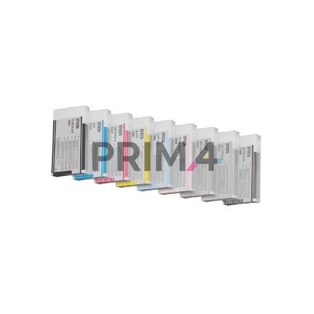 T6065LC C13T606500 220ml Ciano Chiaro Cartuccia a pigmenti Compatibile per Plotter Epson Pro4800, 4880