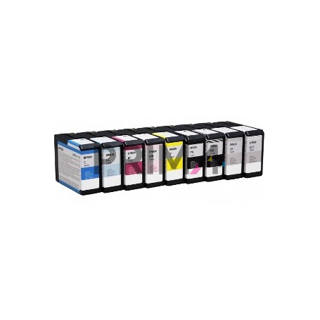 T5807 T580700 80ml Light-Nero Chiaro Cartuccia Compatibile per Plotter Epson Stylus Pro3800, 3880