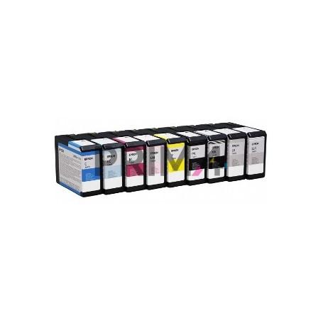 T5809 T580900 80ml Nero L-Light Chiaro Cartuccia Compatibile per Plotter Epson Stylus Pro3800, 3880