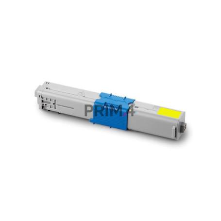 44643001 Giallo Toner Compatibile con Stampanti Oki C801N, 801DN, C821N, 821DN -7.3k Pagine