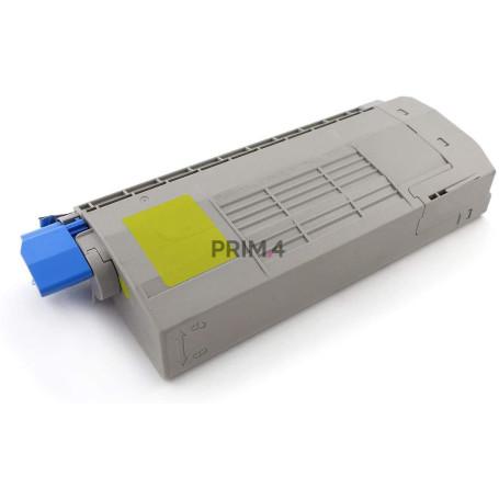 44318605 Giallo Toner Compatibile con Stampanti Oki C710CDTN, C710DTN, C711DN, 711N -11.5k Pagine