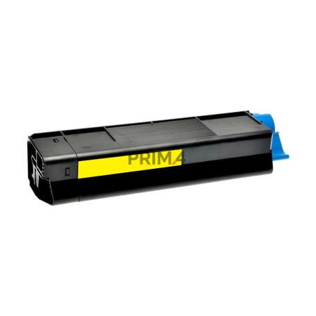 45536413 Giallo Toner Compatibile con Stampanti Oki C911, C931, C941 -24k Pagine