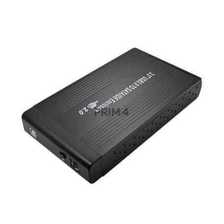"""Case Box Esterno per Disco Rigido IDE + SATA 3.5"""" Enclosure Hard Disk Combo USB 2.0  Alluminio"""